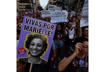 Brésil Hommages à l'élue homosexuelle Marielle Franco, un an après son assassinat