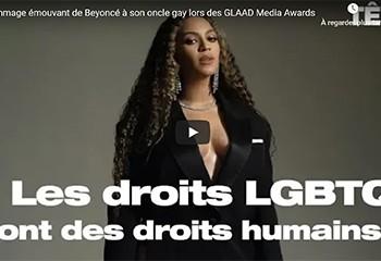 Hommage émouvant de Beyoncé à son oncle gay lors des GLAAD Media Awards