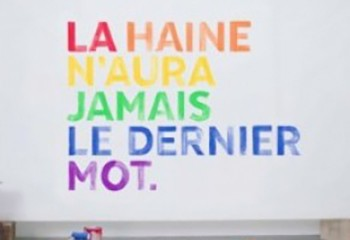 La haine n'aura jamais le dernier mot SOS homophobie lance une opération anti-haine sur les réseaux sociaux