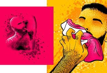 L'illustrateur Daze nous dévoile son univers kinky-pop, chaleureux et poilu