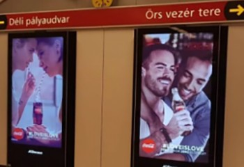 Hongrie Levée de bouclier contre une campagne de Coca Cola mettant en scène des couples gay