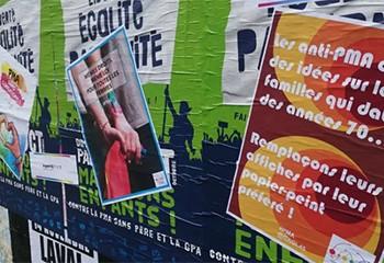 Laval : les militants de la PMA pour toutes ripostent avec des affiches humoristiques
