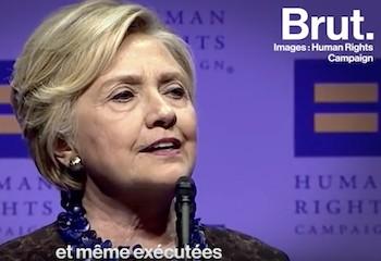 Hillary Clinton égratigne les USA en parlant des droits LGBT