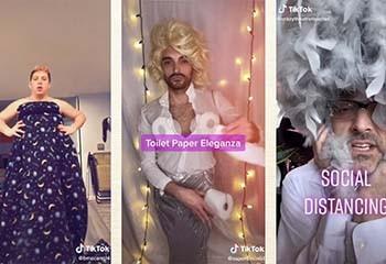 Quand des drag queen occupent leur confinement en créant des tenues « home made »