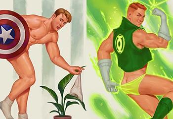 David Talaski, l'illustrateur qui transforme les super-héros en pin-up sexy