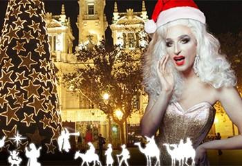 Une drag queen espagnole organise une visite guidée des crèches de Noël à Valence.