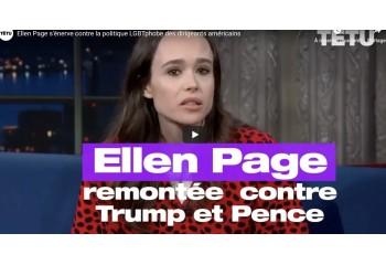 Ellen Page s'énerve contre la politique LGBTphobe des Etats-Unis